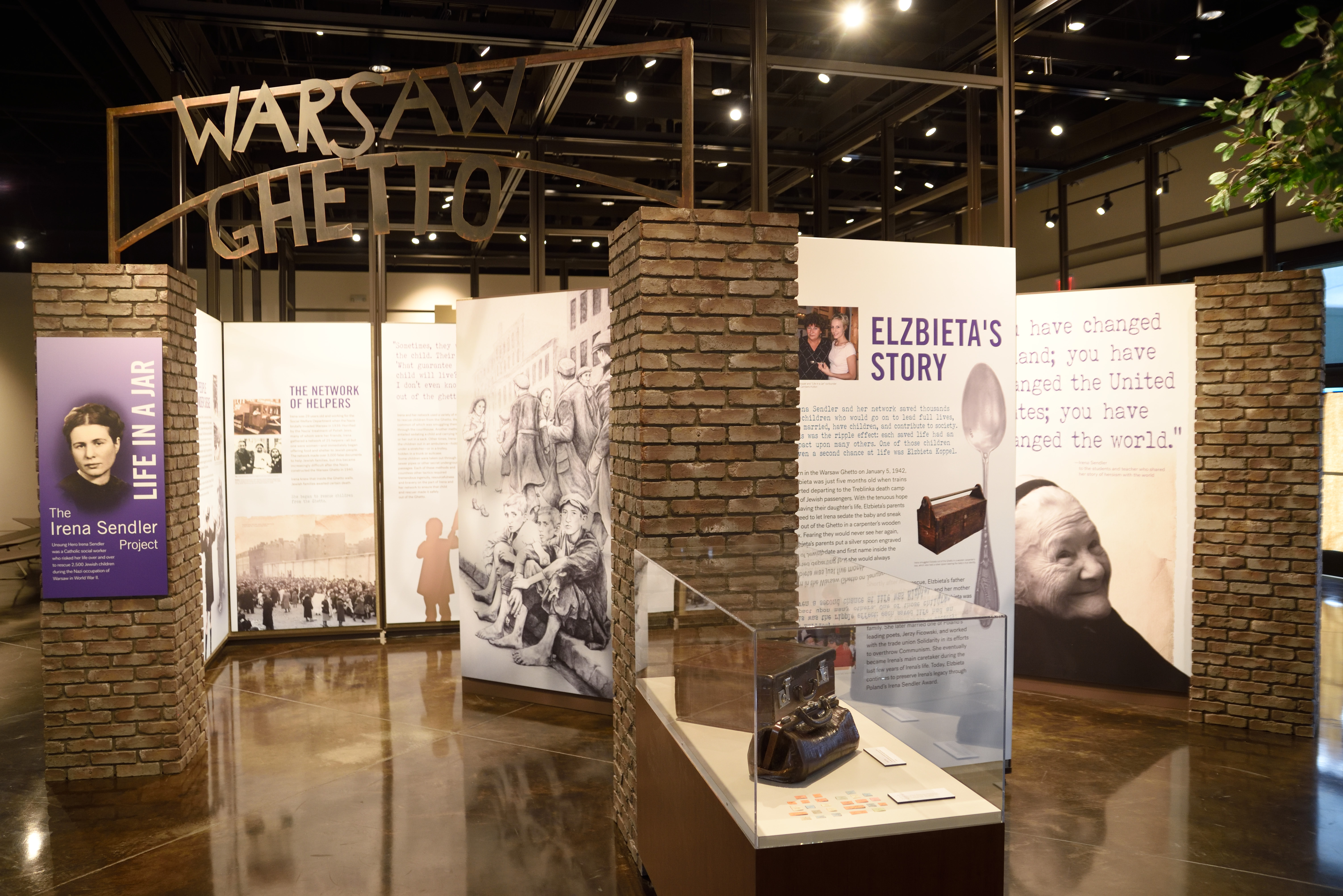 New Irena Sendler exhibit in Fort Scott, KS at the Lowell Milken Center for Unsung Heroes.