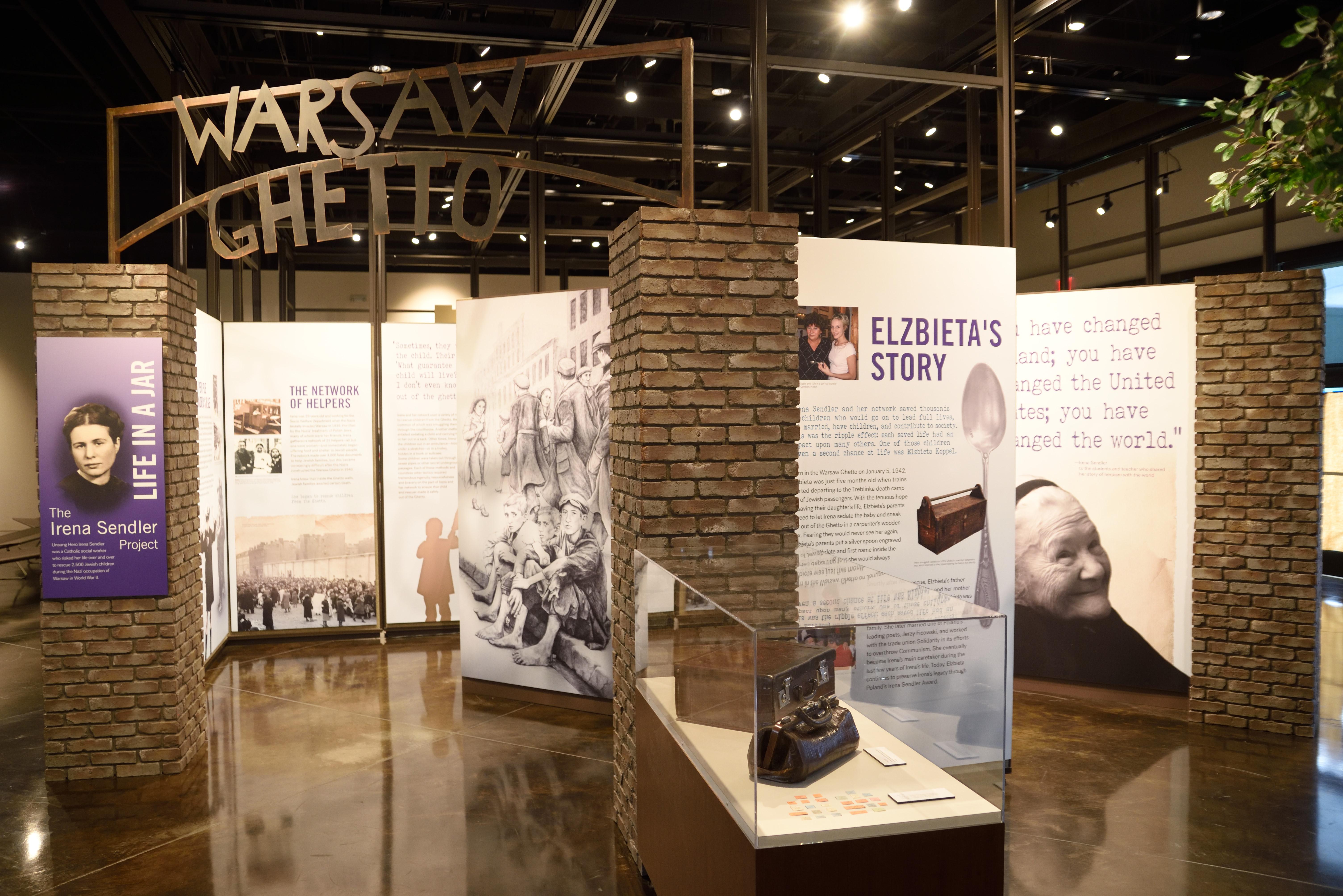 New Irena Sendler exhibit in Fort Scott, KS at the Lowell Milken Center for Unsung Heroes.
