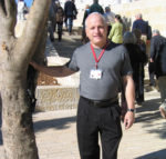 John Isenberg with Irena's tree at Yad Vashem in Israel.