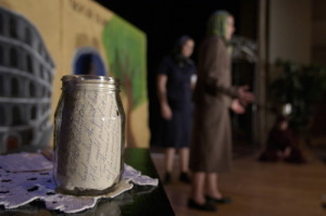 The jar, during the play. (Photo courtesy of Jeffrey Allen Ignarro of the Milken Family Foundation)